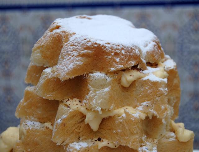 Pandoro relleno con Crema de Mascarpone