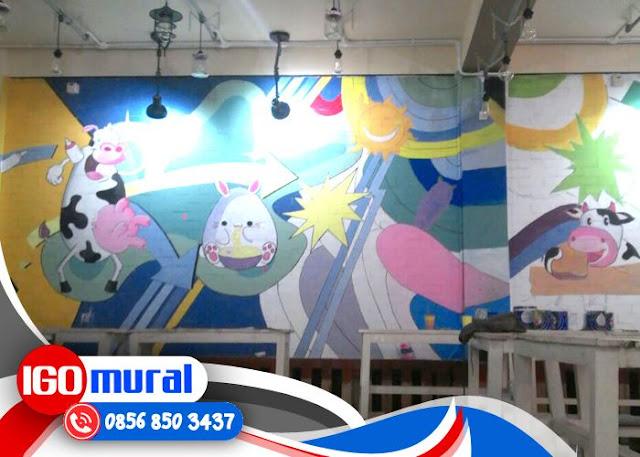 Lukis Dinding Cafe Surabaya, Lukis Dinding Cafe, Lukisan Dinding Cafe
