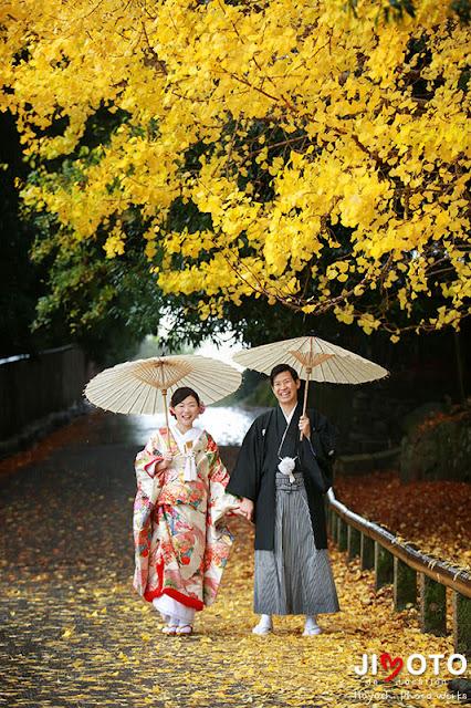 奈良の紅葉で前撮りロケーション撮影
