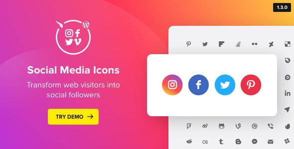 WordPress Social Media Icons v1.1.0 - Social Icons Plugin