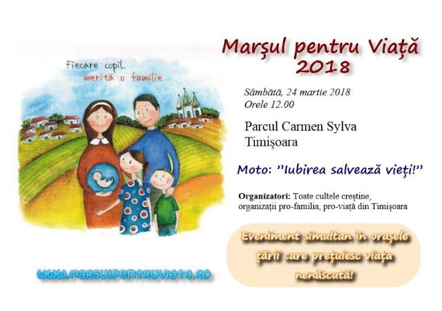 Marşul pentru viaţă la Timisoara - 24 martie 2018