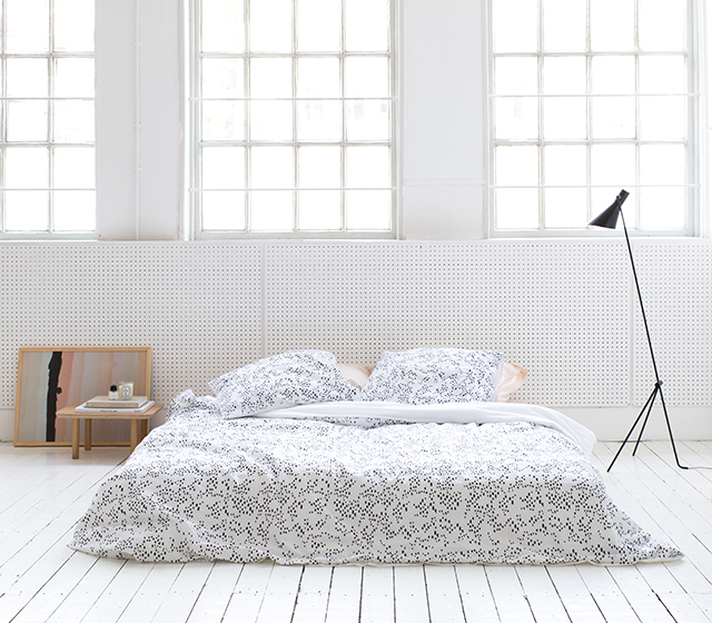 Best  duvet cover set es in white and pastel rose and features a black zebra embroidery on the pillowcases For those who love pattern the Leopard Love