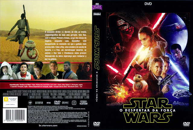 Capa DVD Star Wars O Despertar Da Força