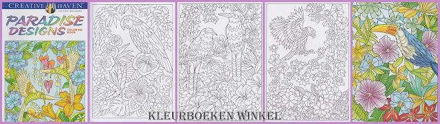 kleurboek paradice designs