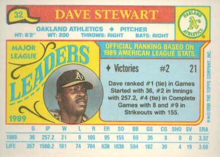 From A 1980s Baseball Card Collector 1990 Topps Minis 32 Dave Stewart