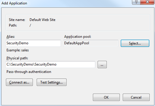 Associating an ASP.NET Web Application with an Application Pool