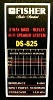 Fisher+DS-825+Speaker+3-way+825 specs