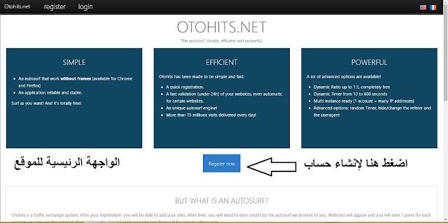 شرح موقع otohits أفضل موقع لجلب الاف الزوار الى موقعك والروابط المختصرة والفيديوهات 2017