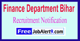 Finance Department Bihar Recruitment Notification 2017 Last Date 30-06-2017