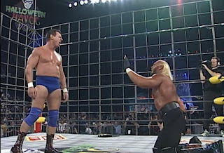 WCW Halloween Havoc 1997 - Piper vs. Hogan in a steel cage