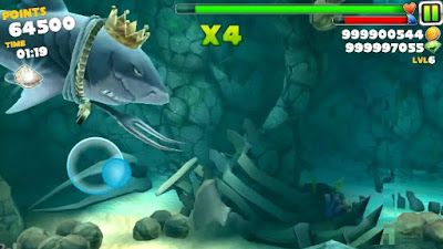 Hungry Shark Evolution Unlimited coins gems