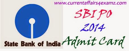 sbi associates po 2014 admit card 2014-15