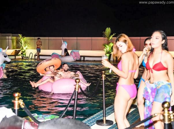 Khin Injinn Kyaw Pool Party Snaps At Novotel Yangon Max Hotel