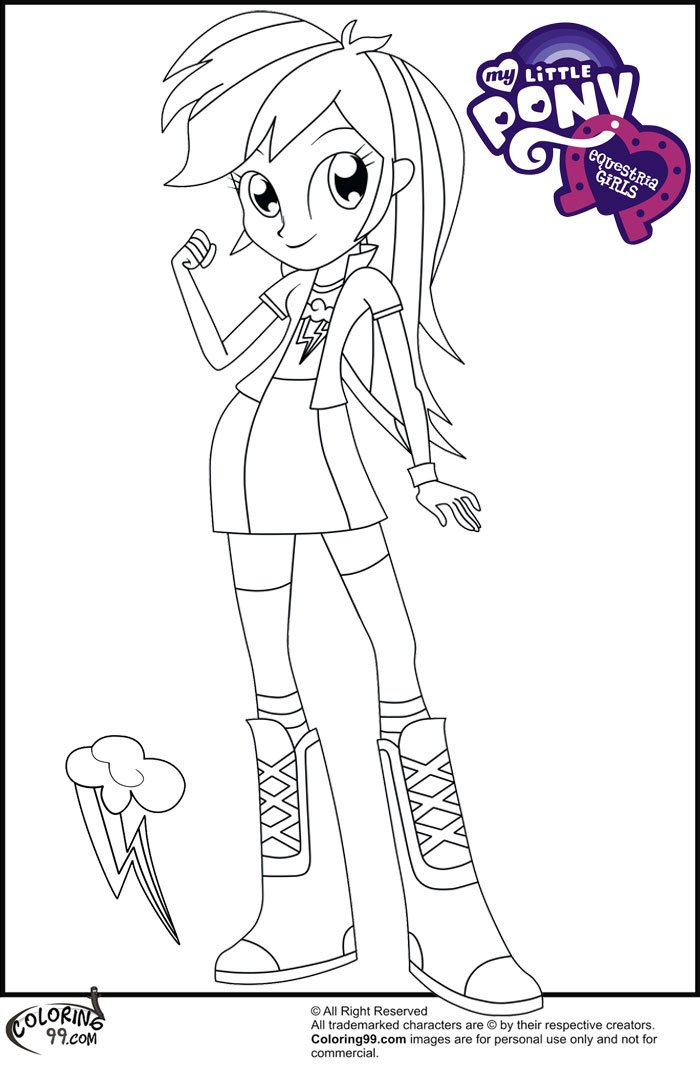 It is an image of Superb Equestria Girls Coloring Book