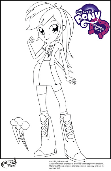 human rainbow dash coloring pages - photo#32