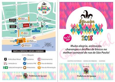 Programação do Carnaval de Iguape