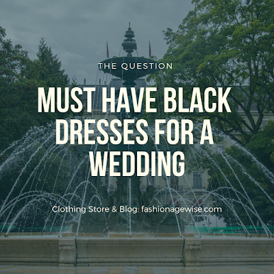 image result Must Have Black Dresses For a Wedding