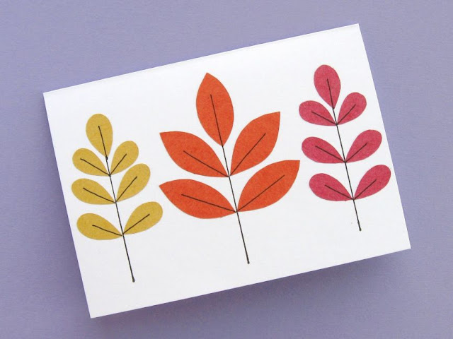 autumn leaf card tutorial