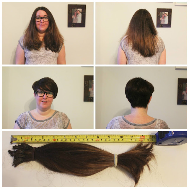 before and after photos following hair donation to the little princess trust charity