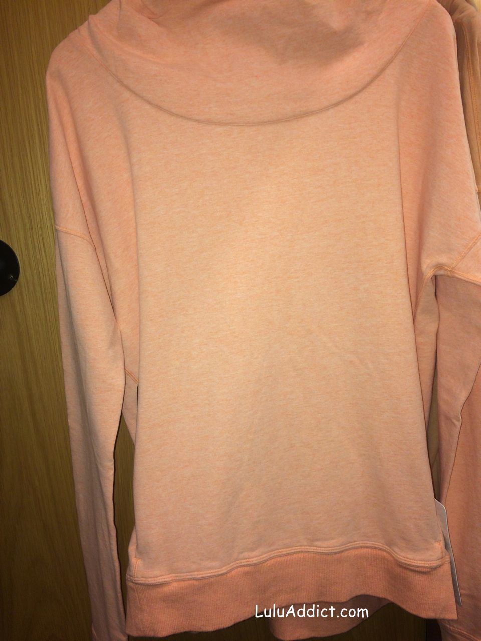 lululemon plum peach stress less hoodie