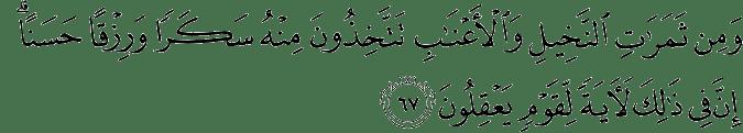 Surat An Nahl Ayat 67