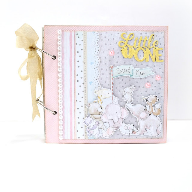 Little One Baby Album by Dana Tatar for FabScraps