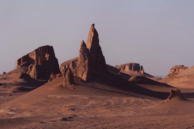 Yardangs en el Desierto de Lut en Irán