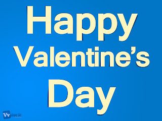 Happy Valentine's Day Text Simple HD Wallpaper Blue Background