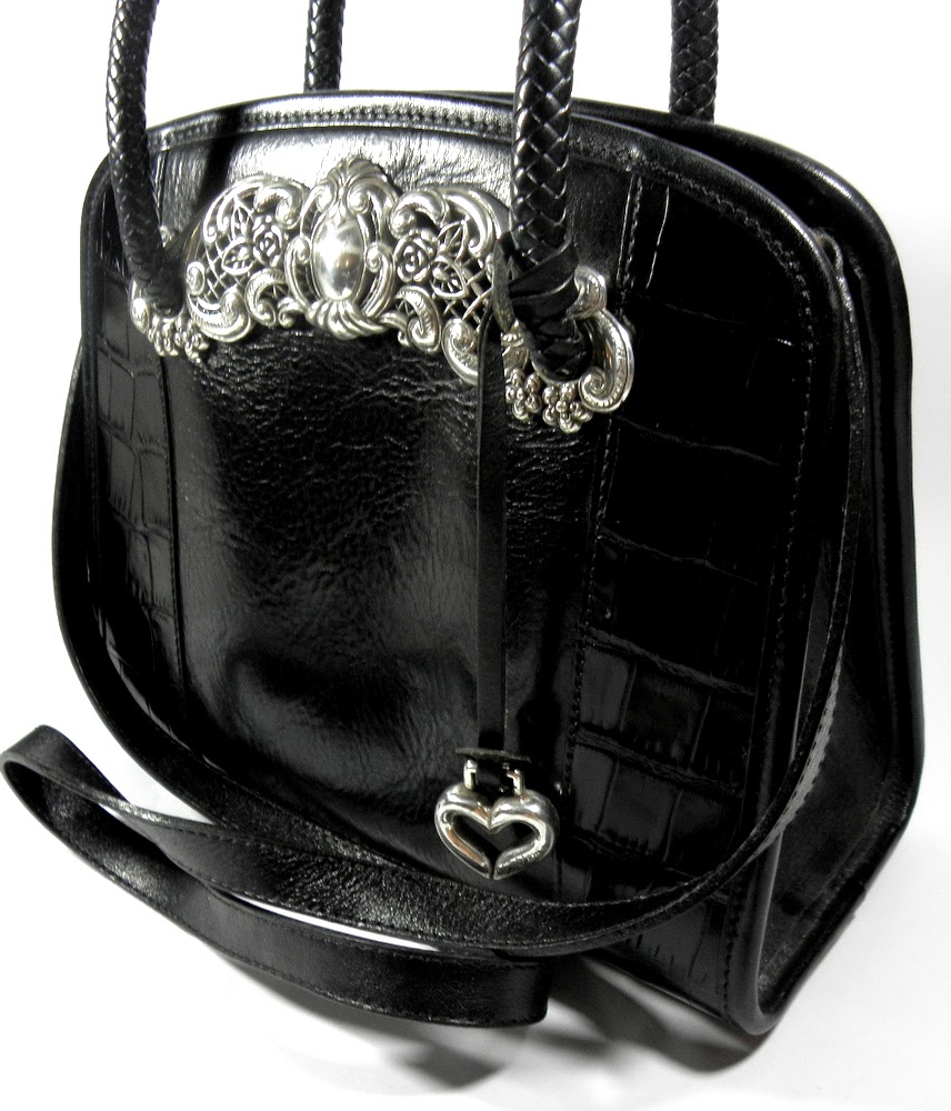 Vintage Black Leather Purse