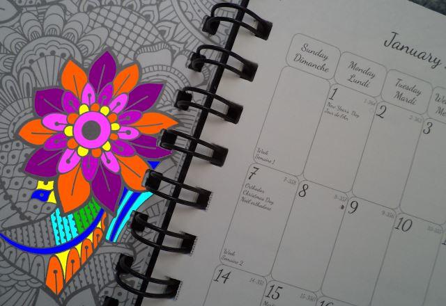 blueline botanica weekly planner