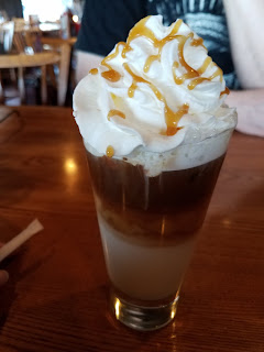 #atozchallenge x Cracker Barrel caramel latte