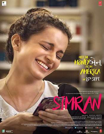 Simran 2017 DVDRip 350Mb Full Hindi Movie Download 480p