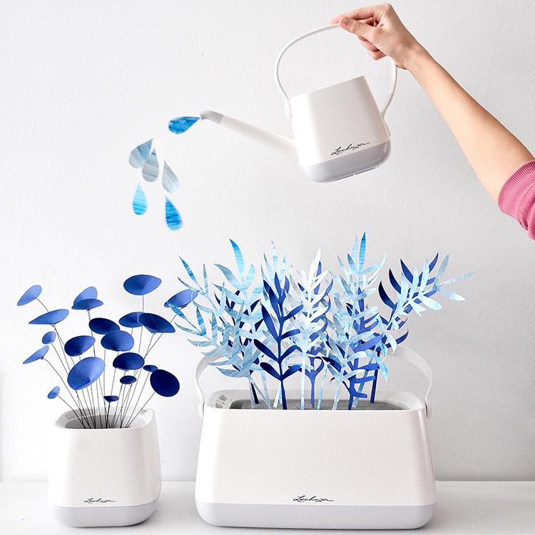 Platz 10 Papierpflanzen In Blau Ich Gebastelt Habe Weil Mein Grüner Daumen Für Echte Pflanzen Quasi Nicht Vorhanden Ist