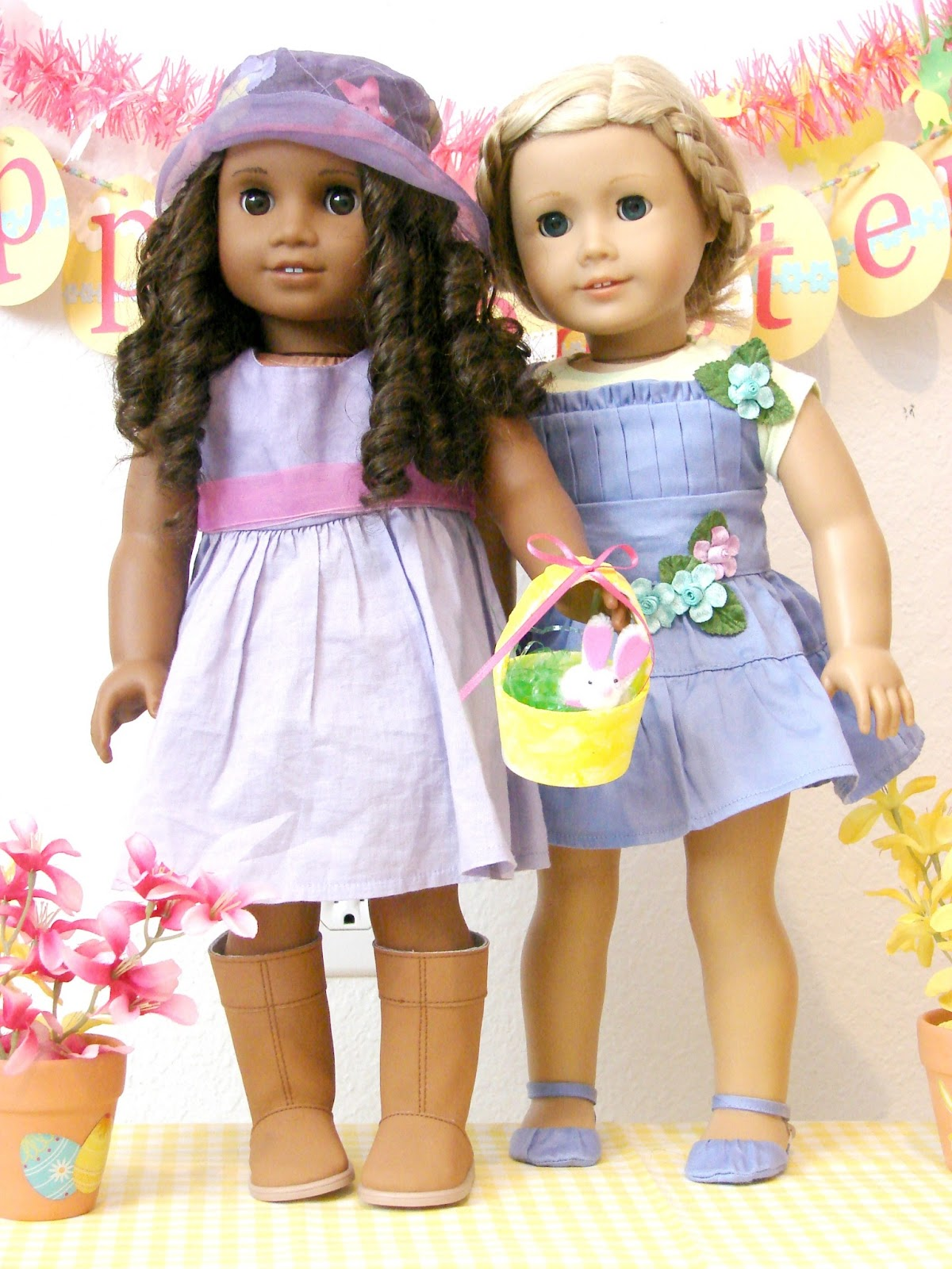 american girl doll play doll play our easter dresses. Black Bedroom Furniture Sets. Home Design Ideas