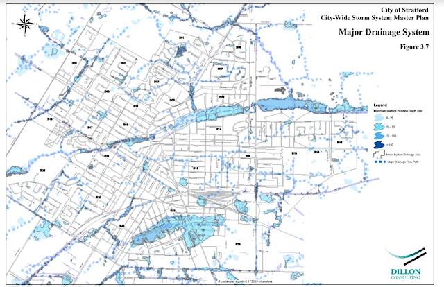 Major Overland Pluvial Flood Risk