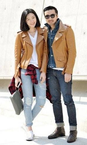 Gambar Jaket Kulit Couple Keren Warna Tan