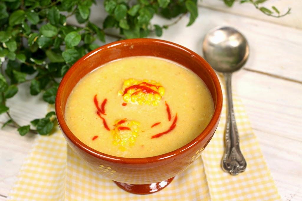 Zupa z kukurydzy z mlekiem kokosowym