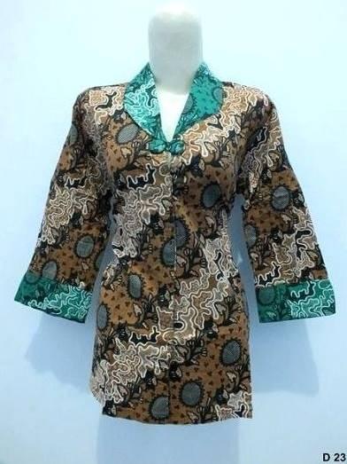 10 Model Baju Batik Kerja Guru Modis Elegan Terbaru 2017