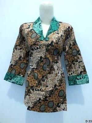 model baju batik kerja guru modern