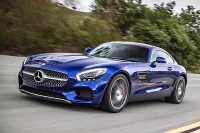 Mercedes Benz Sports Car Blue