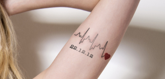Cute Heartbeat Tattoo Designs For Women