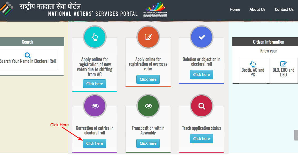 telangana ts voter id card correction online and offline