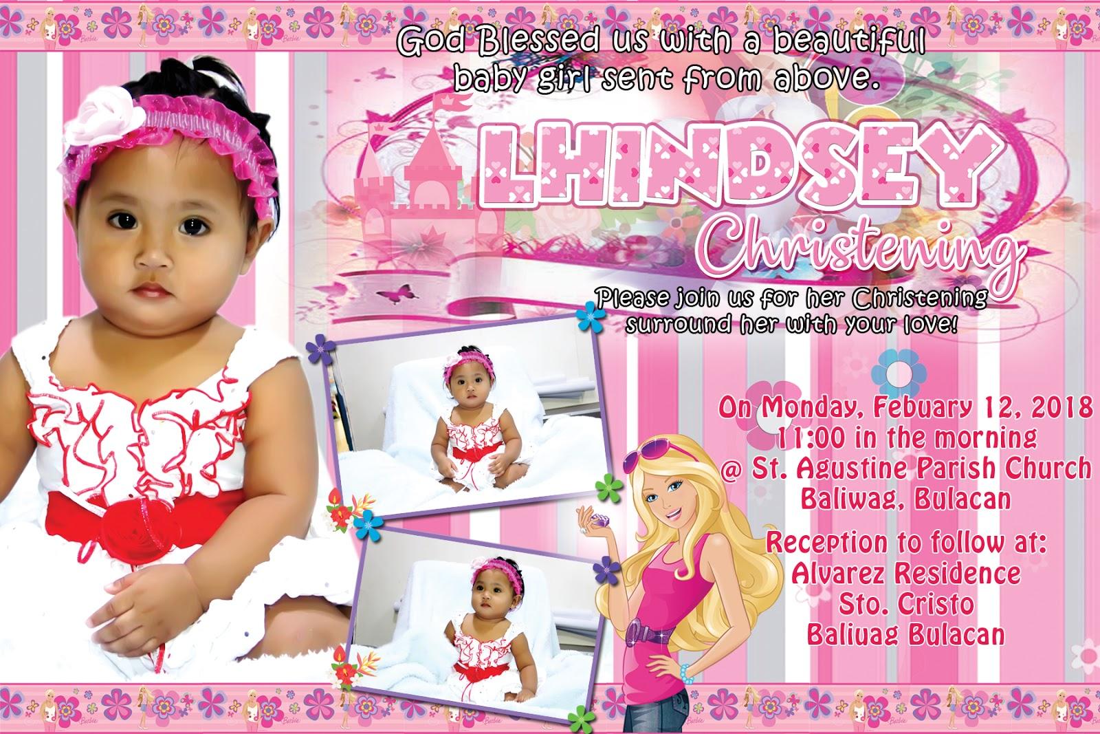 fashionable barbie sample invitation