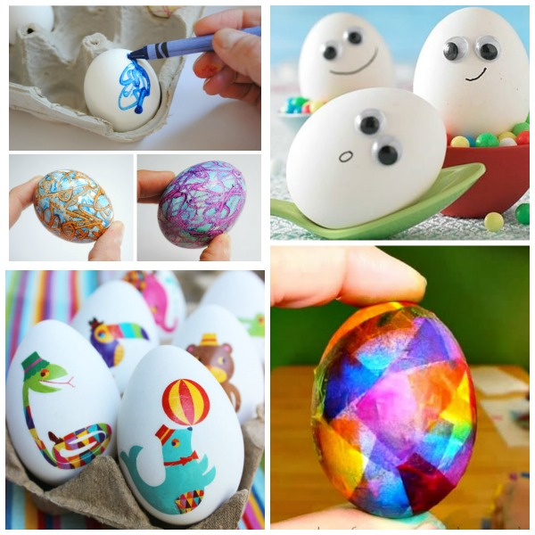 20 MESS-FREE WAYS TO DECORATE EASTER EGGS WITH KIDS. These are fantastic! #eastereggdecorating #eastereggs #eastereggdecoratingfortoddlers #eastercraftsforkids #messfreeeastereggdying #easteractivitiesforkids #activitiesforkids #dyingeastereggs #eastercrafts
