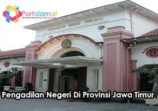 Alamat kantor Pengadilan Negeri Di Seluruh Provinsi Jawa Timur