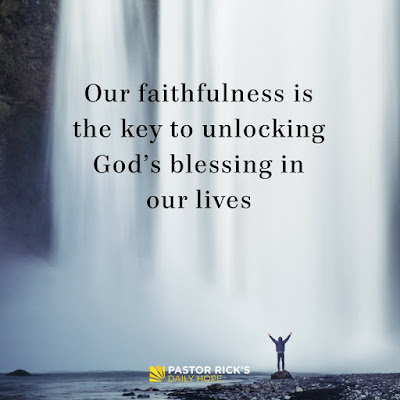 The Value of Faith in a Faithless World by Rick Warren