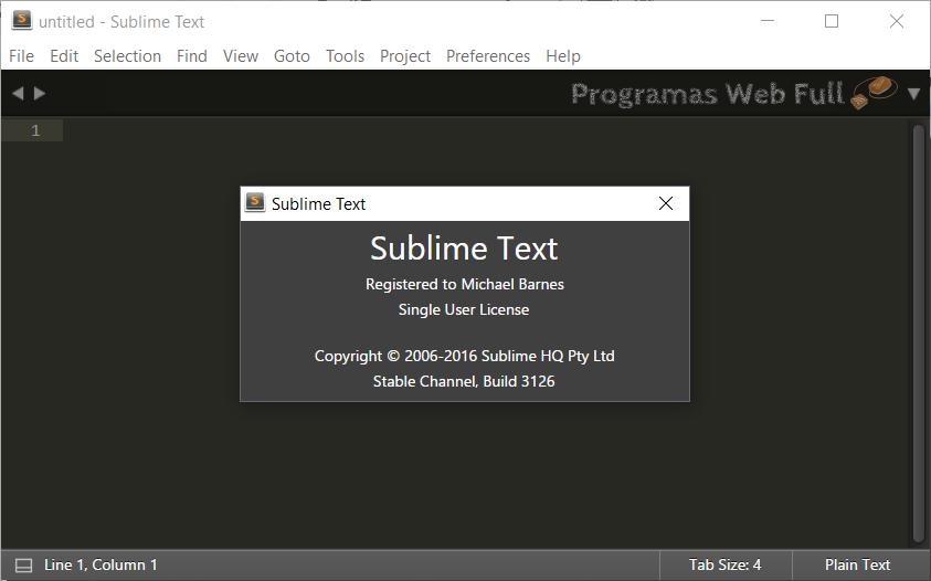 Sublime Text 3 Build 3126