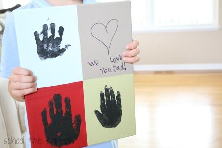 Warhol Inspired Hand Print Art