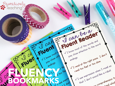 Fluency Bookmarks to Help Students Focus on Improving Their Fluency