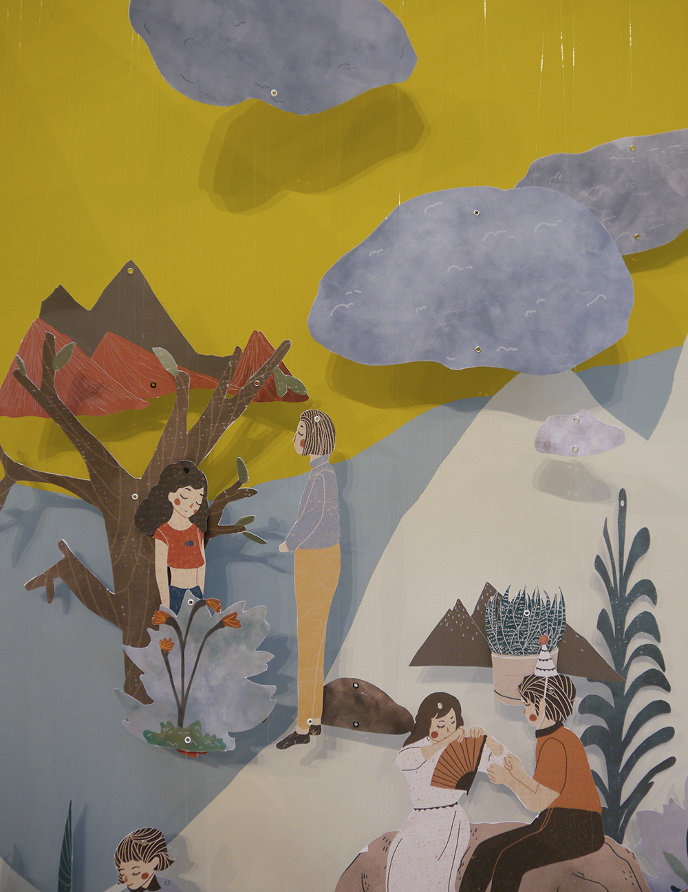 edinburgh college of art, masters degree show 2016, young artist Scotland, contemporary scottish art, xin liu graphic deisgn, the story of the stone in illustration
